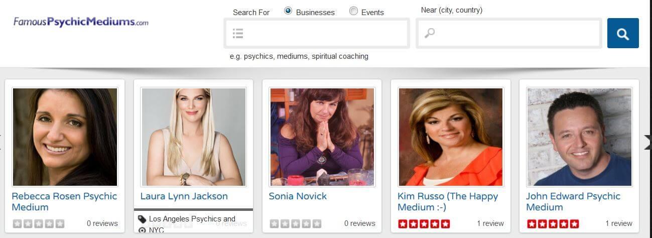 Famous Psychic Medums Dir