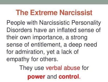 The Extreme Narcissist